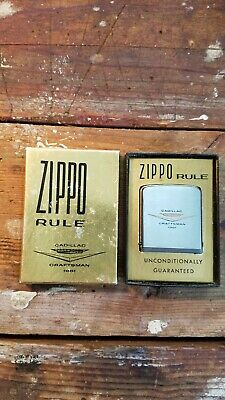 Vintage Zippo Rule Tape measure Cadillac Craftsman 1961 advertising collectible