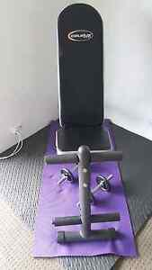 Adjustable exercise bench and hand weights Unanderra Wollongong Area Preview