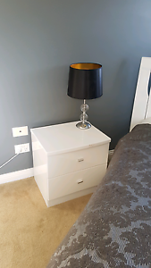 2 bed side tables and bed frame - modern with high gloss finish Rowville Knox Area Preview