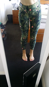 Yoga tights - size 10 green leaf pattern Erskineville Inner Sydney Preview