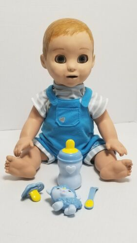 LuvaBeau Interactive Boy Doll Speaks English & French Luvabella - Rare