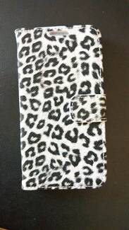 Flip Case for Samsung Galaxy S6 - New - White Leopard print