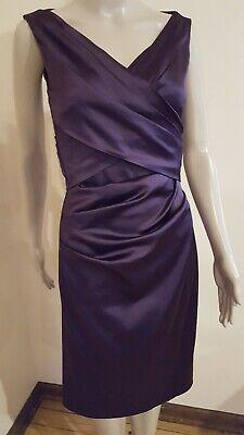TALBOT RUNHOF - Stretch Duchess Satin - Violet Dress - Size 6