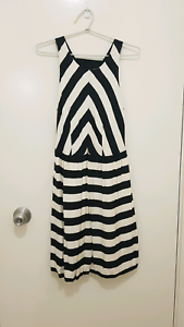 Country Road Black & White Stripe Dress Size 10