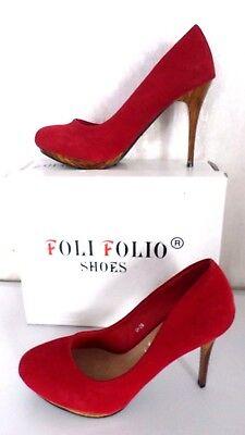 Sexy Damenschuhe Pumps Plateau High Heels Peep-Toes  Rot/Braun Gr.38  NEU (Rote Sexy Schuhe)