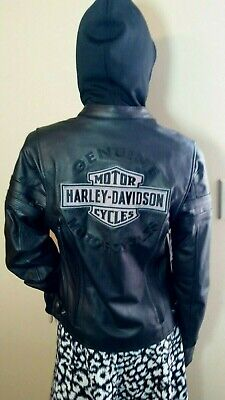 Harley Davidson Miss Enthusiast 3-in-1 Leather Jacket Size Small