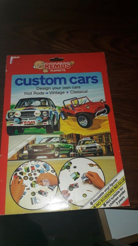 Remus+Play+Kits+Vintage+Custom+Cars+1981+Vinyl+Stickers+Activity+Set