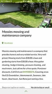 Mossies mowing and maintenance Gwandalan Wyong Area Preview