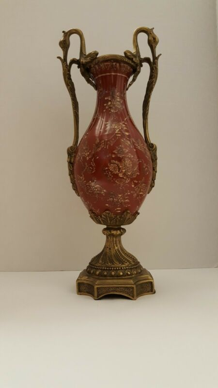 Bronze & Porcelain Goose Vase