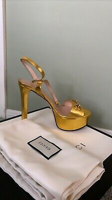 NEW WITH BOX/ DUST BAG: Authentic Gucci Platform Heels Size 36, $760 Value