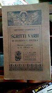 Scritti-vari-di-filosofia-e-politica-Antonio-Labriola-Laterza-e-Figli-1906