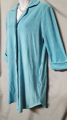 Charter Club Green Robe Sleep Shirt Terry Long Sleeve Knee  L  46