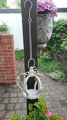 Hängedeko Krone Metall grau Deko Garten Balkon Terrasse Shabby Vintage