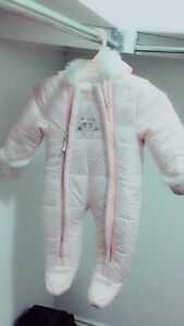 Warm and soft snowsuit size 3-6 mnths-  like new