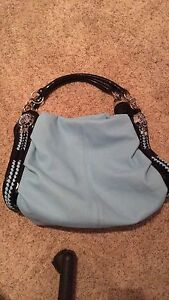 Large blue purse from the fringe