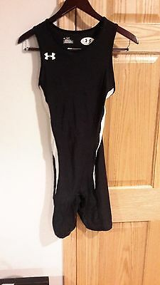 Under Armour Heatgear Wrestling Singlet Track And Field Xxl Black Lycra Spandex