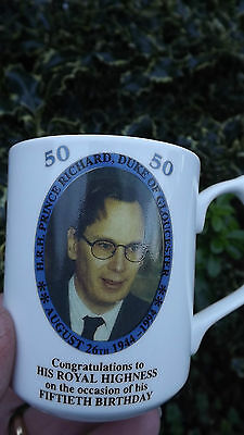 1994 Prince Richard Duke of Gloucester 50th Birthday Mug Only 60 made