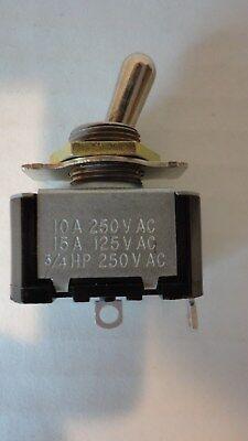 Toggle Switch 10 A 250V AC 15A 125V AC 3/4 HP 250V AC 1/2 HP 125V AC Brand New