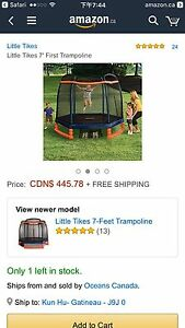 Outdoor Play Little Tikes 7' My First Trampoline