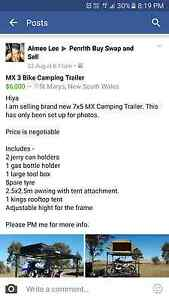 3 bike mx camping trailer Oxley Park Penrith Area Preview