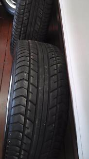 """Low profile Yokahama Tyres  fitted on 16"""" polished alloy wheels."""