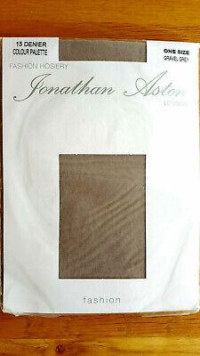 Jonathan Aston Gravel Grey 15 Denier Sheer Tights - One Size - Free Postage!