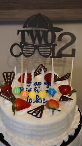 """""""Two cool"""" cake and Cupcake Toppers"""