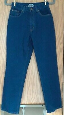 L.L. BEAN ORIGINAL FIT RELAXED  Womens Size 4 Reg High Rise Denim Blue Jeans - Original Rise Relaxed Fit Jeans