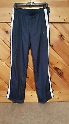 Nike Womens Blue Track Athletic Pants Nylon  Size Medium