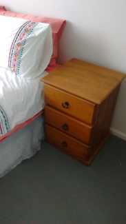 Bedside tables with draws (two)