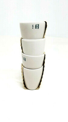 4 Vintage Coors Usa 76503 Porcelain Filter-crucible Lab Equipment