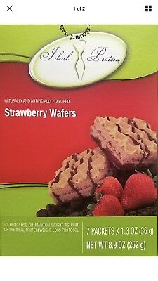 3 Boxes IDEAL PROTEIN STRAWBERRY WAFERS Newest Release - Strawberry Boxes