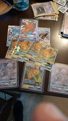 Hidden fates Gx lot of 10 Charizard raichu gyarados