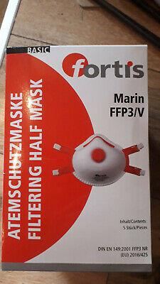 5 Stück Marin FFP3V Fortis Atemschutzmaske mit Ventil DIN EN 149.2001 FFP3