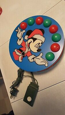 """Vintage Juggling Mickey Mouse 9"""" Tree Topper Christmas Holiday Light Up Disney"""