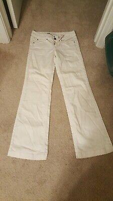 Womens Size 2 White Denim Trouser Premium Jeans Mossimo