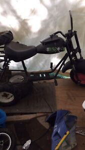 Baja mini bike made into a three wheeler