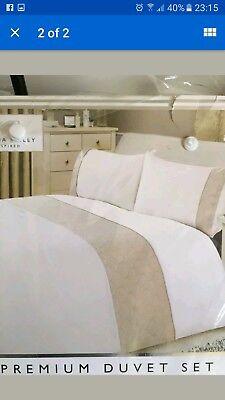 Karina Bailey Marissa Embellished Quilted Metallic Premium Bedding Duvet king