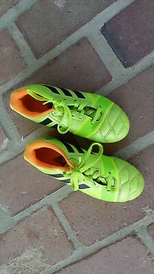 Addidas Neon Green performance Kids Nitrocharge 3.0 TRX  Soccer Cleat sz 13
