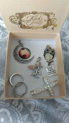 Kirks Folly fairy silver rings owl cross