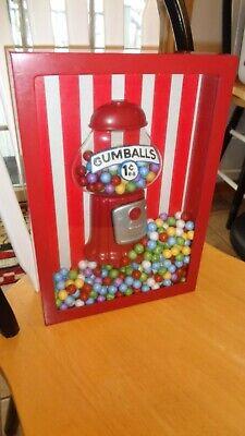 Big Top Gumball Machine (Bubblegum Machine Big Top Circus Theme Hanging Shadow Box Display w)