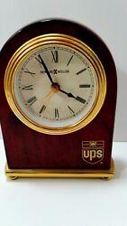 Howard Miller UPS Rosewood and Brass Desk Alarm Clock