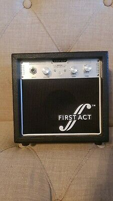 First Act MA104 Electric Guitar Practice Amplifier-A/C Adapter & Guitar Cable First Act Electric Guitar Amplifier