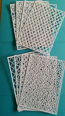 8 TATTERED LACE FRAME DIE CUTS VERY LARGE.