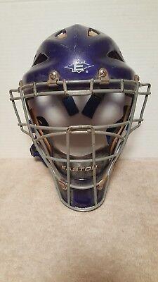 Easton Stealth Catchers Helmet - Easton Stealth baseball softball catchers gear hockey style helmet Blue Large!