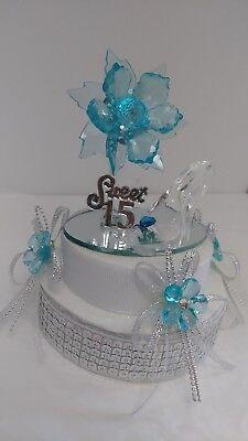 QUINCEANERA SWEET 15 16 BIRTHDAY CAKE TOPPER CENTERPIECE DECORATION FIGURINE ](Sweet 15 Decorations)