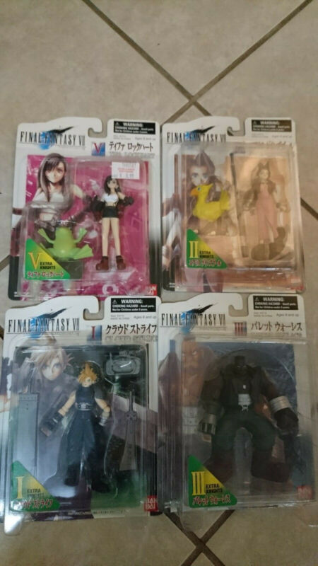 Final Fantasy 7 Bandai Figure Lot Cloud Strife Barret Wallace Tifa Aerith