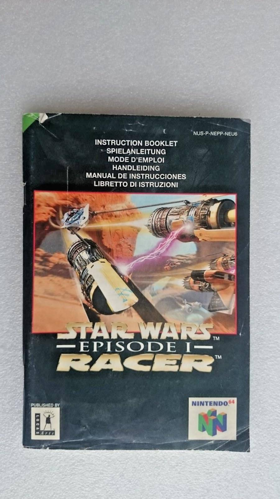 Nintendo Star Wars Episode 1 Racer Game Manual