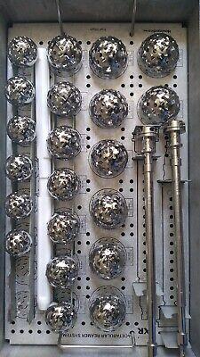 Stryker Howmedica Xr Acetabular Reamer Set With Handles Instruments