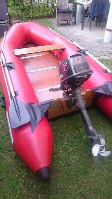 Schlauchboot unbenutzt Marke MAXXON (5 Pers. mit Außenbordmotor gebraucht 5 PS)